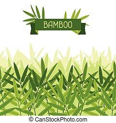 tropicale, modello, seamless, leaves., stilizzato, bambù