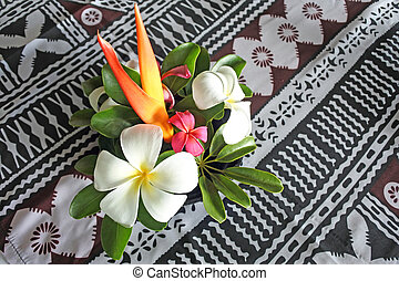 tropicale pacifico, isole, fiori, bokeh, figi