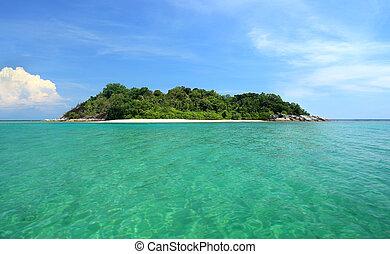 tropicale, partenza, isola, paradiso