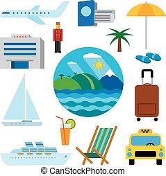 tropicale, ricorso, icone