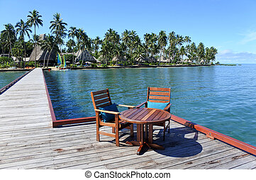 tropicale, ricorso, su, vanua, levu, isola, figi