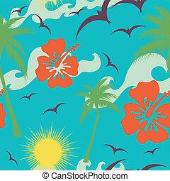 tropicale, seamless, fondo