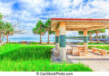 tropicale, spazio sosta, isola