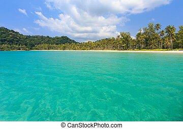 tropicale, tailandia, turchese, riva, mare