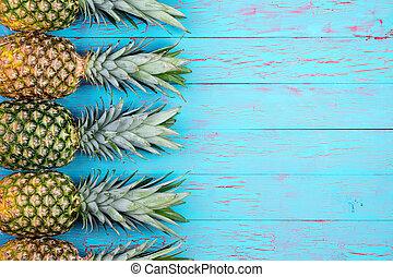 tropicale, tema, frutta, fondo