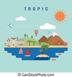 tropico, paesaggio