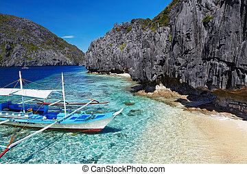 tropikalna plaża, filipiny