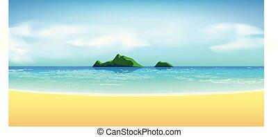 tropikalna plaża, prospekt