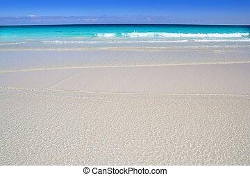 tropikalna plaża, turkus, karaibski, woda