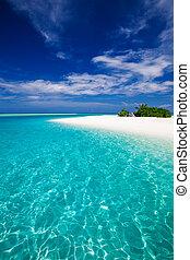 tropikalna wyspa, zdumiewający, plaża, najbardziej