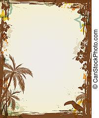 tropikalny, abstrakcyjny, ułożyć
