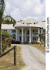 tropikalny, dom, kosztowny