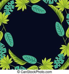 tropikalny, kasownik, liście