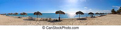 tropikalny, kubanka, plaża