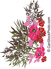 tropikalny kwiat, odzież