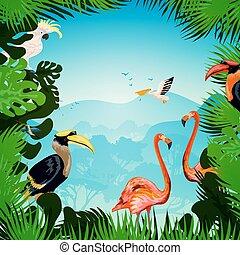 tropikalny las, tło