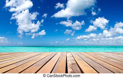 tropikalny, morze