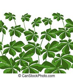 tropikalny, próbka, seamless, leaves.