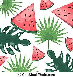 tropikalny, projektować, owoce