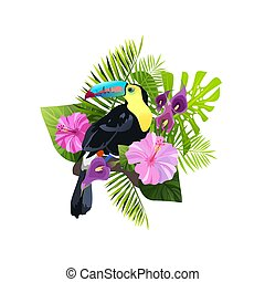 tropikalny ptaszek, skład