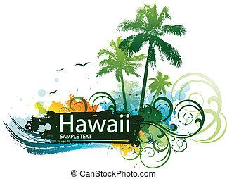 tropikalny, surfing, backgroung
