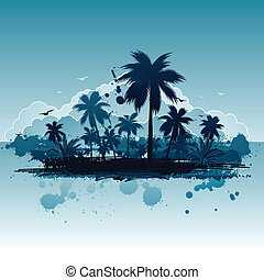 tropikalny, tło