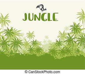 tropikalny, zielony krajobraz