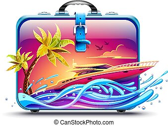 tropikus, elit, jacht, fényűzés, maradék