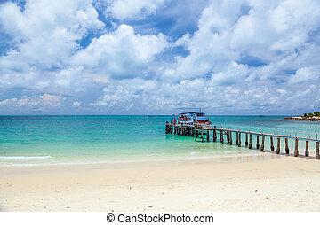 tropikus, kilátás a tengerre