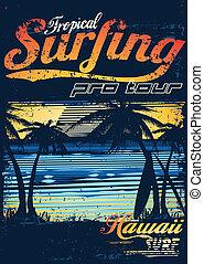 tropikus, szörfözás