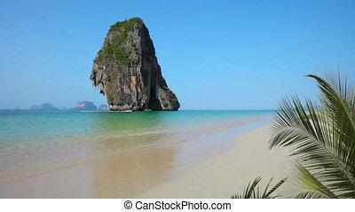 tropikus, thaiföld, krabi, tengerpart, -