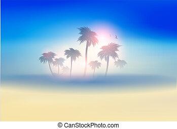 tropique, île paradis