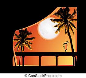tropique, nuit
