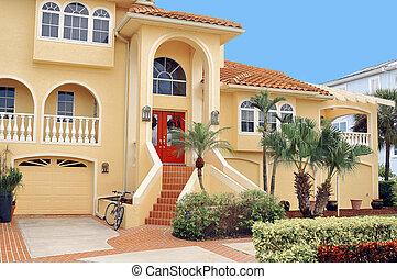 tropiques, histoire, trois, maison