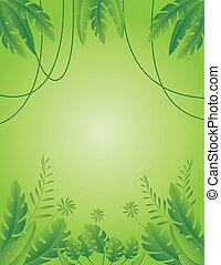 tropisch blad, achtergrond