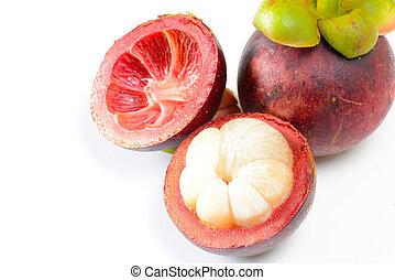 tropisch fruit, mangosteen