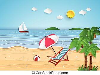 tropisch strand, illustratie