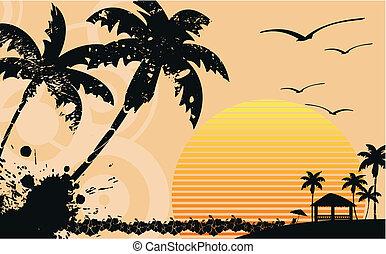 tropisch strand, wallpaper9, hawaiian