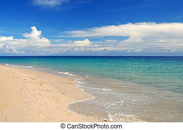 tropisch strand, witten, de caraïben