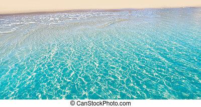 tropisch water, duidelijk, strand, transparant