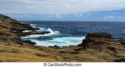 tropische , ansicht, lanai, hawaii, warte