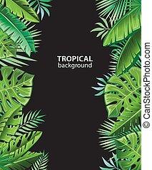 tropische , betriebe, hintergrund
