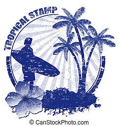tropische , briefmarke