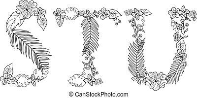 tropische , floral, brief s
