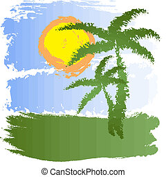 tropische , grunge, achtergrond