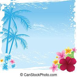 tropische , grunge, banner