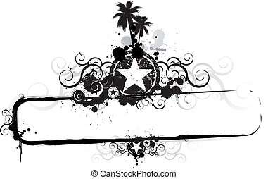 tropische , grunge, spandoek