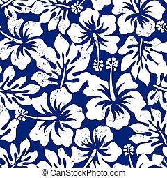 tropische , hibiskus, seamless, verwittert, muster