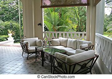 tropische , kolonial, architectur