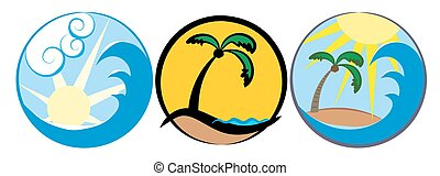 tropische , logos, island.